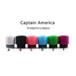 DRIP TIP COLORFUL CAPTAIN AMERICA FOR TFV8/TFV12 PAR 5