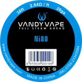Pure nickel Ni80 26GA 30FT - Vandy Vape