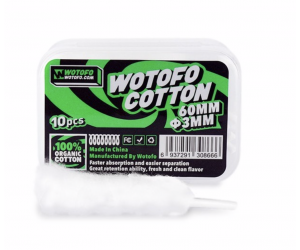 Coton organique Agleted 3mm par 10 - Wotofo