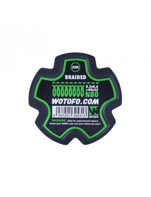 WOTOFO BRAIDED WIRE 20 FEET/SPOOL