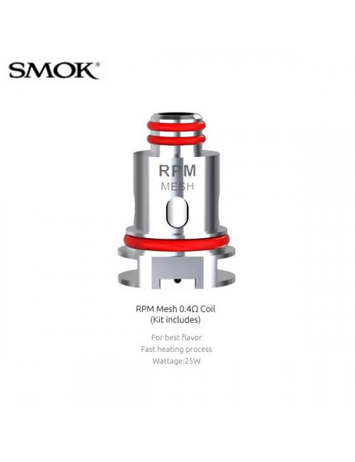 Résistances RPM40 Mesh (0.4ohm) Smok (pack de 5)