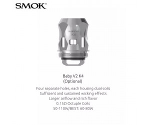 Résistances Baby V2 SS (K4 : 0,15 ohms) par 3 - Smoktech