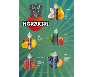 PACK DÉCOUVERTE HARAKIRI 50ML (25 FIOLES )